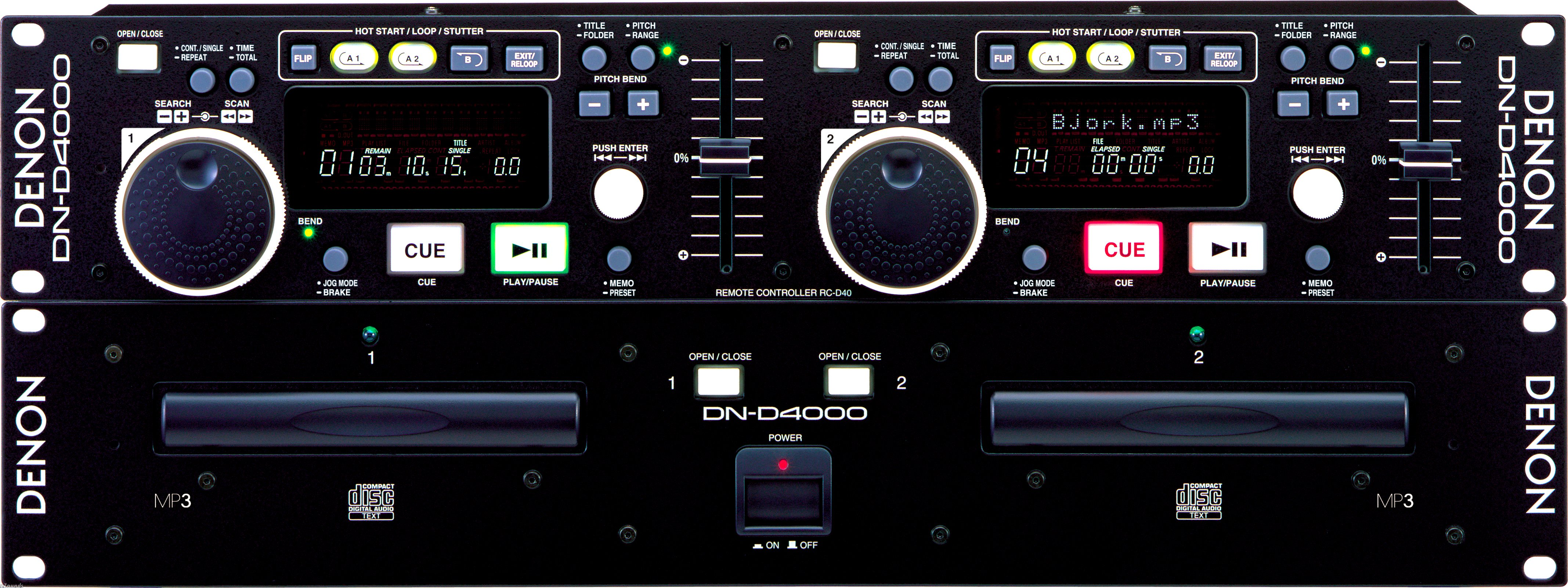 Denon DND4500 Pro Dual CD/MP3 Player